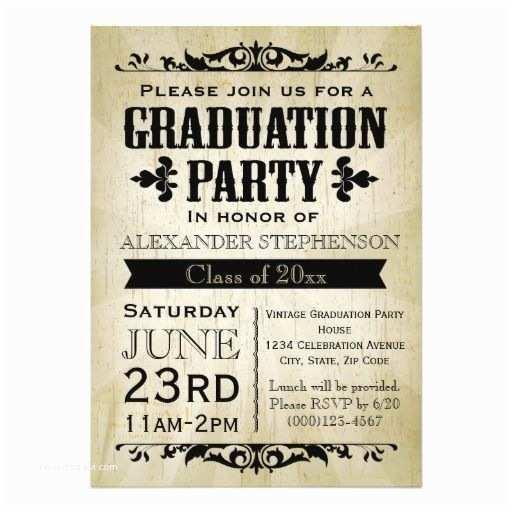 Graduation Party Invitations Ideas Vintage Graduation Party Invitation