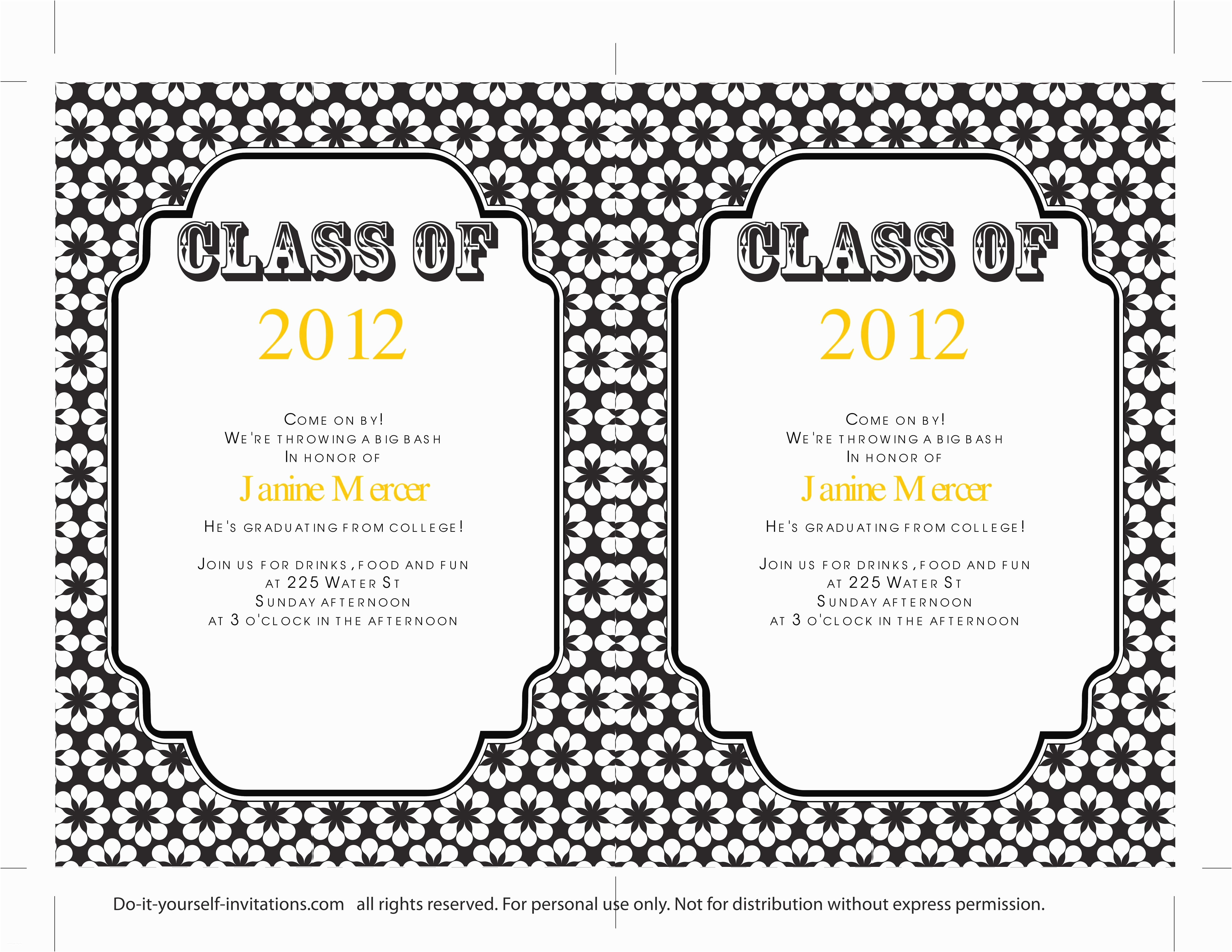 Graduation Party Invitations Templates 40 Free Graduation Invitation Templates Template Lab