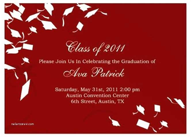 Graduation Party Invitations Templates Free Free Graduation Invitation Templates for Word Template Ideas