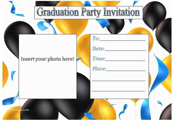 Graduation Party Invitations Templates Printable Graduation Party Invitations Template