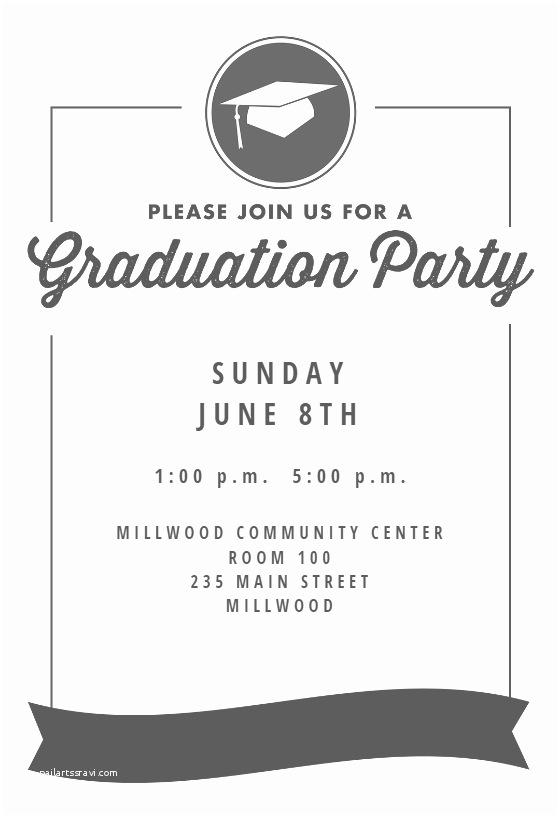 Graduation Party Invitations Templates Ribbon Graduation Free Graduation Party Invitation