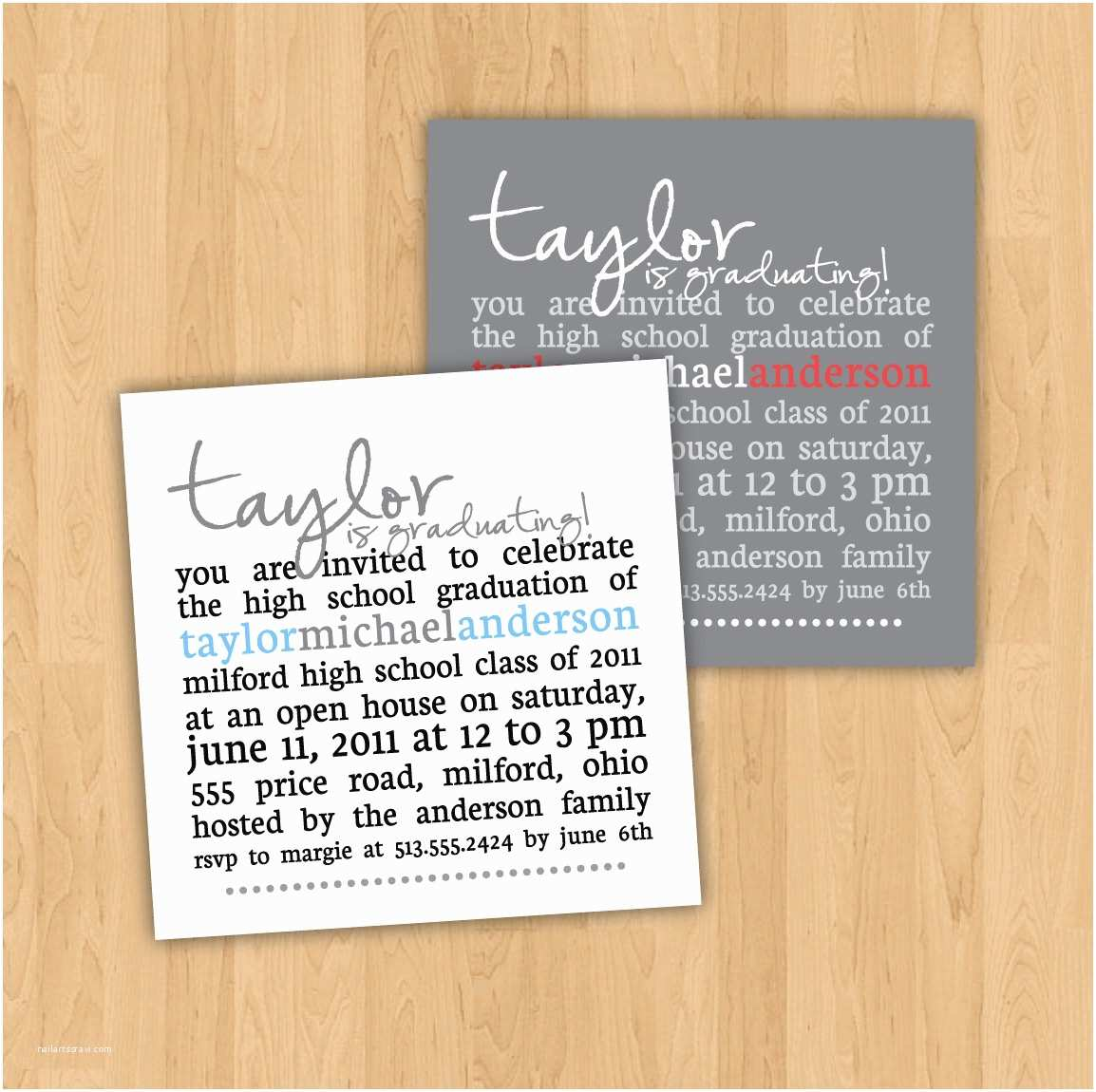 Graduation Party Invitations Wording Graduation Party Invitation Square Party Invitation