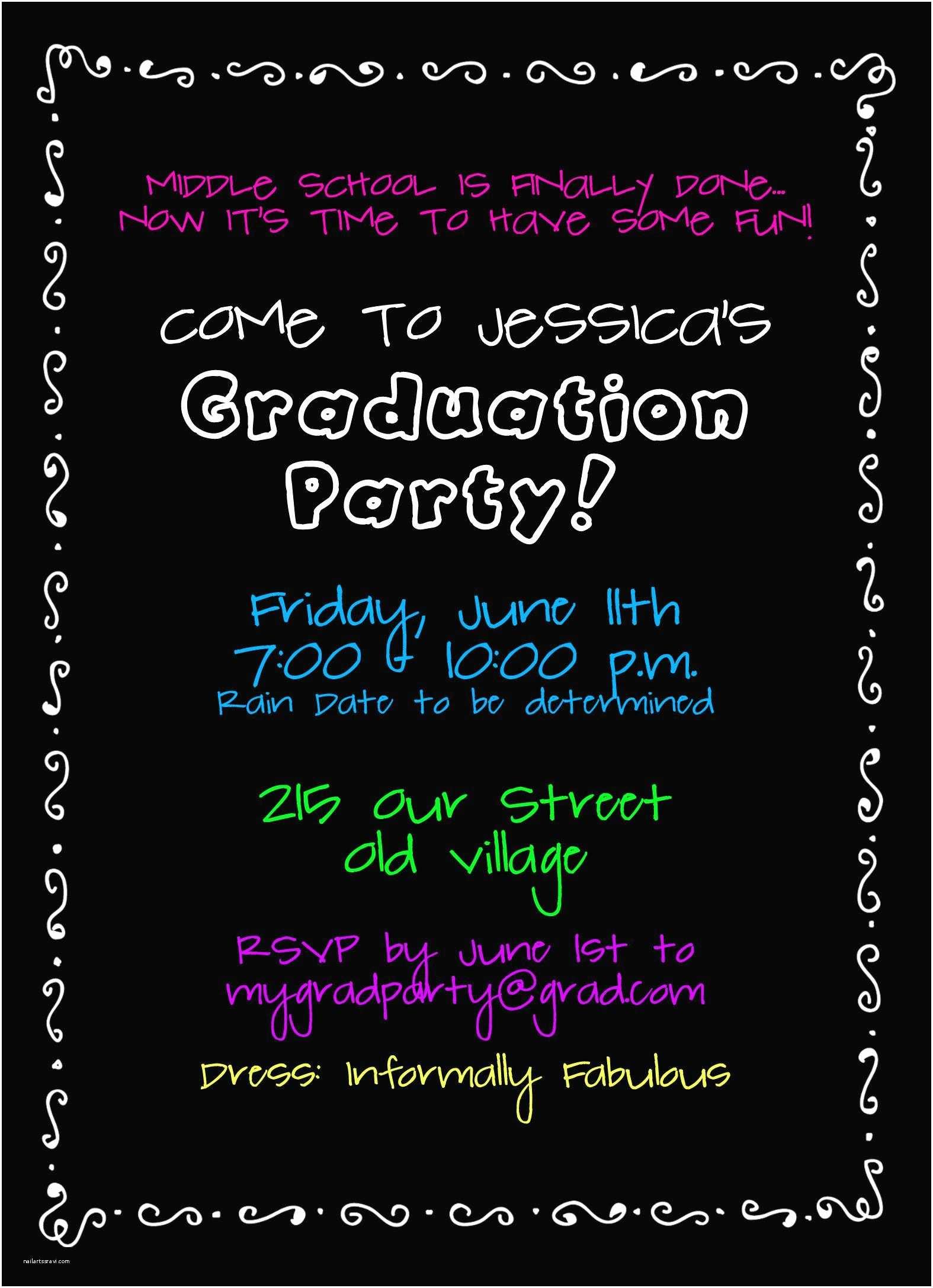 Graduation Party Invitations Wording Graduation Party Invites