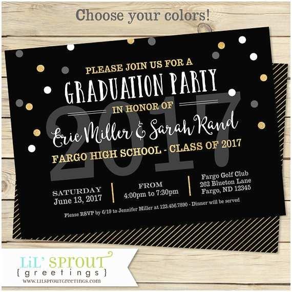 Graduation Party Invites Printable Graduation Invitation Joint Graduation Party