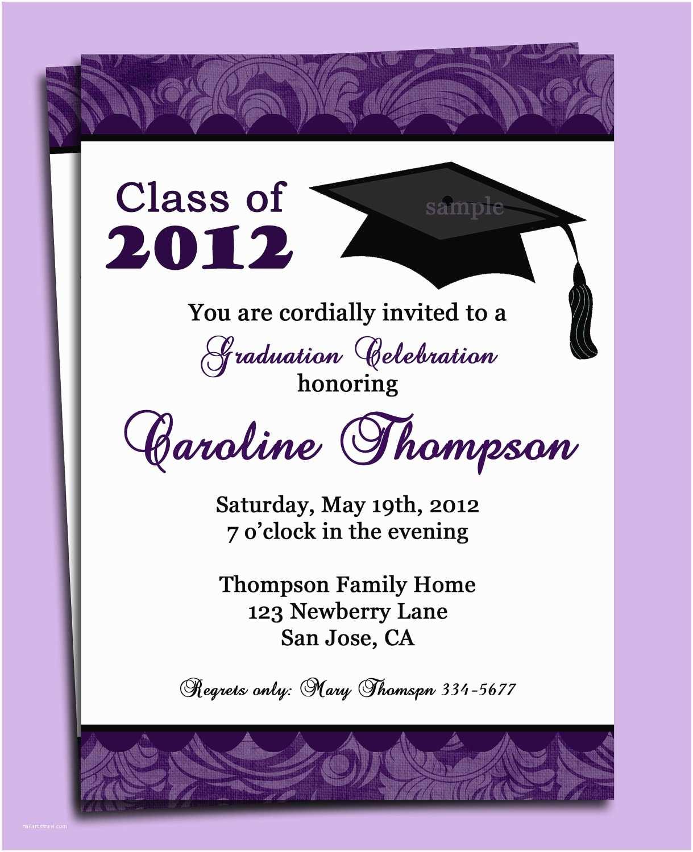 Graduation Photo Invitations Graduation Party Invitation Wording