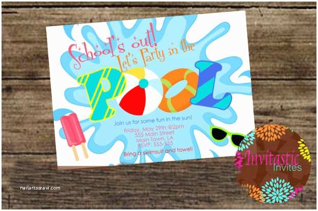 Graduation Pool Party Invitations 15 Pool Party Invitations Printable Psd Ai Vector Eps