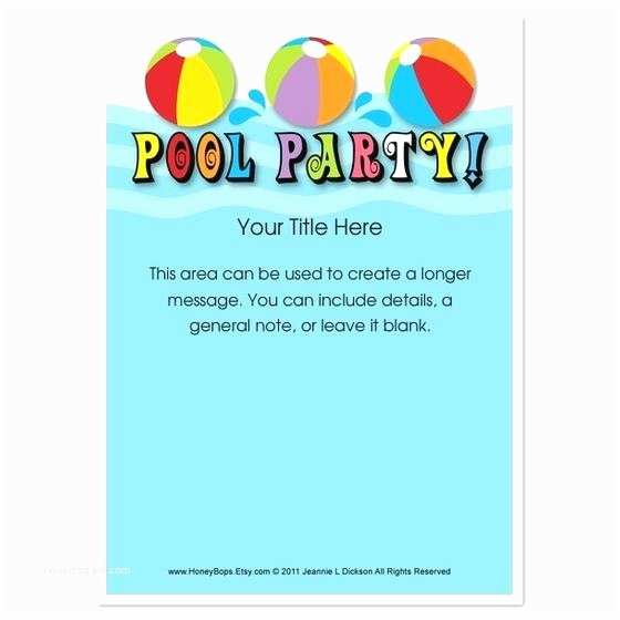 Graduation Pool Party Invitations Graduation Pool Party Invitations Pool Party Invitation