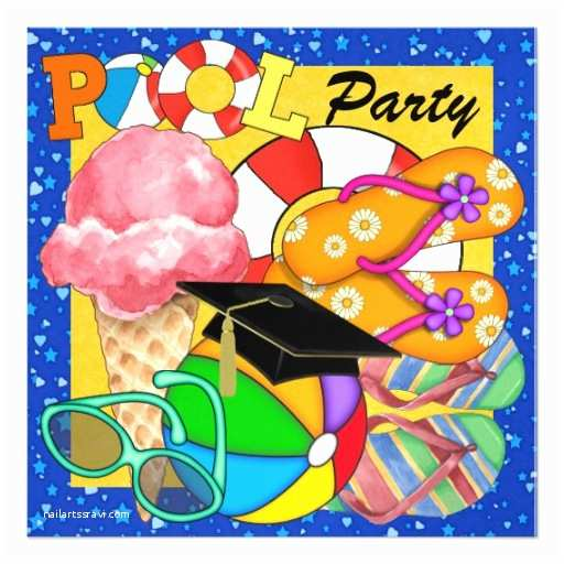 Graduation Pool Party Invitations Graduation Pool Party Srf Invitation