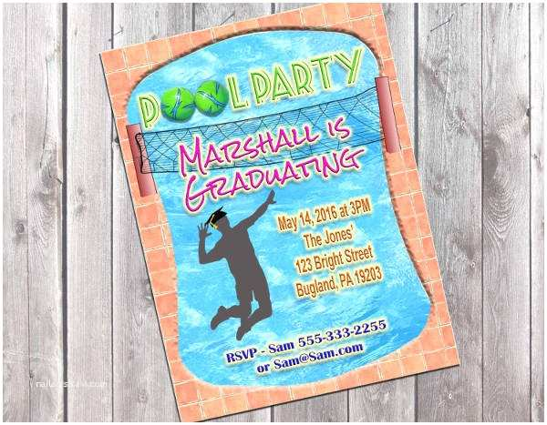 Graduation Pool Party Invitations Party Invitation Templates