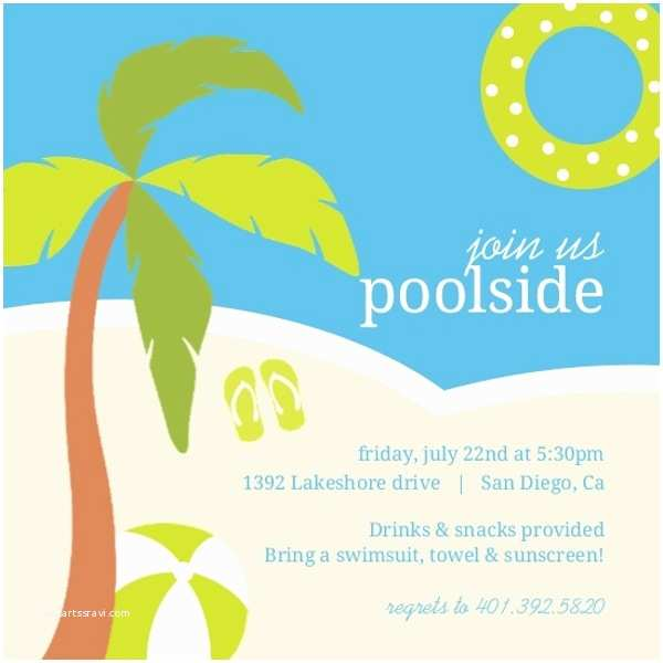 Graduation Pool Party Invitations Poolside toys Pool Party Invitation