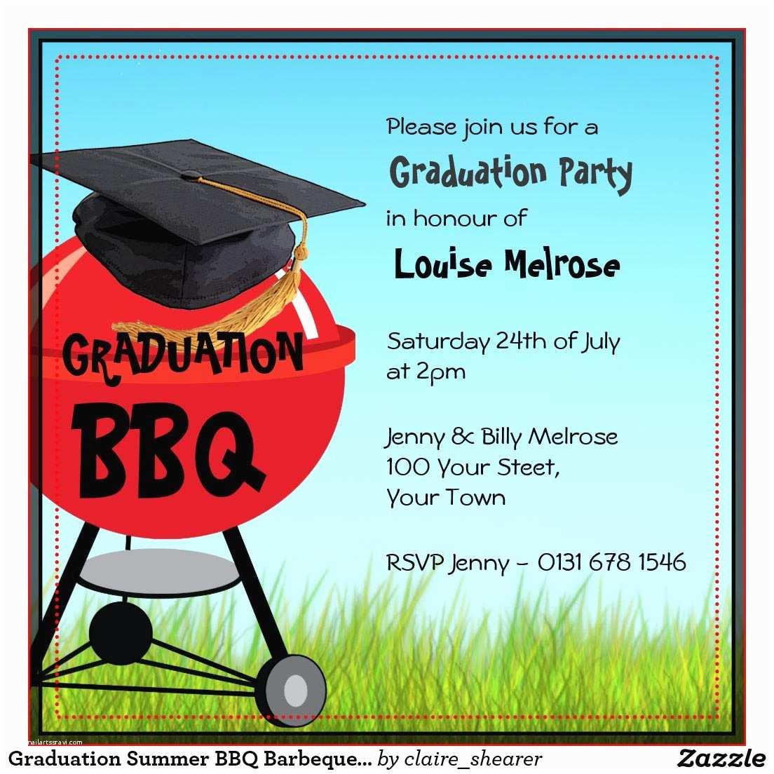 Graduation Reception Invitations Bbq Graduation Party Invitations