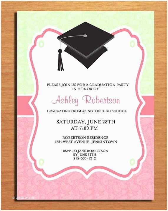 Graduation Reception Invitations Party