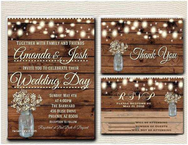 Graphic Design Wedding Invitations 15 Rustic Wedding Invitations Printable Psd Ai Vector