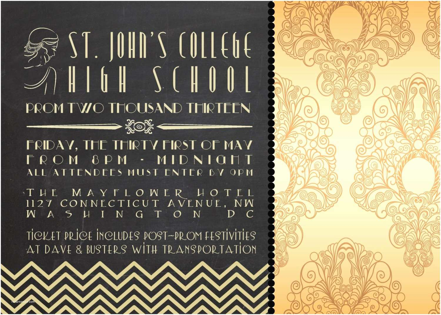 great gatsby birthday party invitations