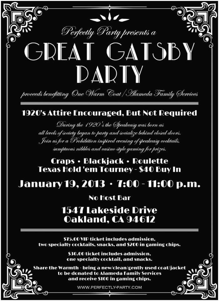 "Great Gatsby Party Invitations Lost In Translation why I Won T Be attending Your ""gatsby"