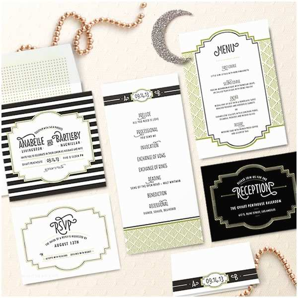 Great Gatsby Wedding Invitations $350 Giveaway Gatsby Wedding Invitations From Minted