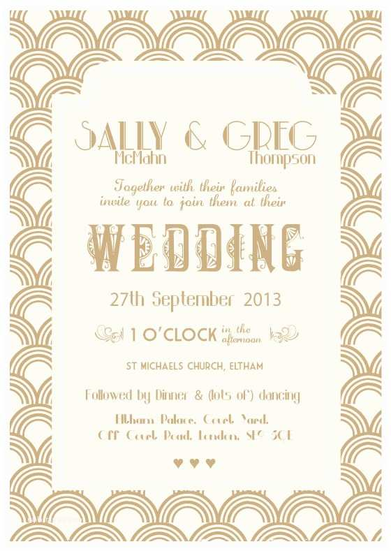 Great Gatsby Wedding Invitations the Great Gatsby 20's Wedding theme
