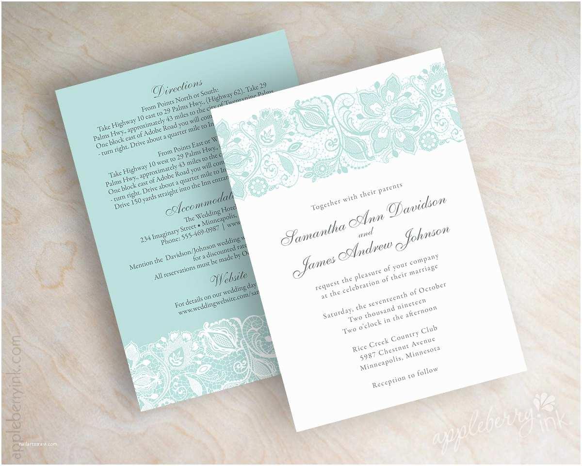 best album of mint green wedding invitations