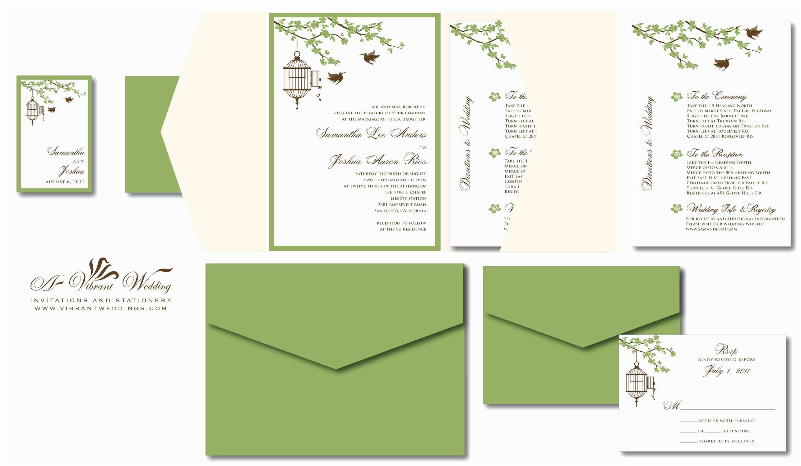 Green Wedding Invitations Sage Green Wedding Invitation – A Vibrant Wedding