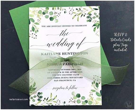Greenery Wedding Invitations Best 25 Free Invitation Templates Ideas On Pinterest