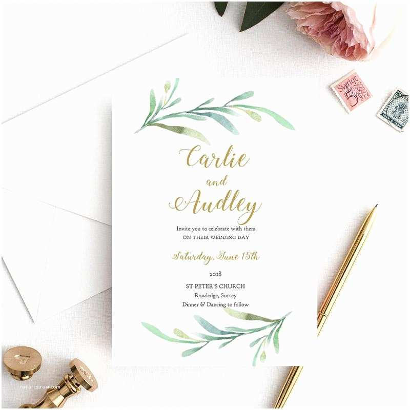 Greenery Wedding Invitations Greenery Wedding Invitations Rustic Wedding Invitations