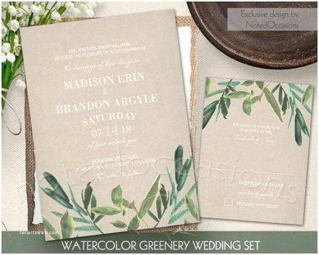 Greenery Wedding Invitations Invitation Greenery Wedding Invitation Set