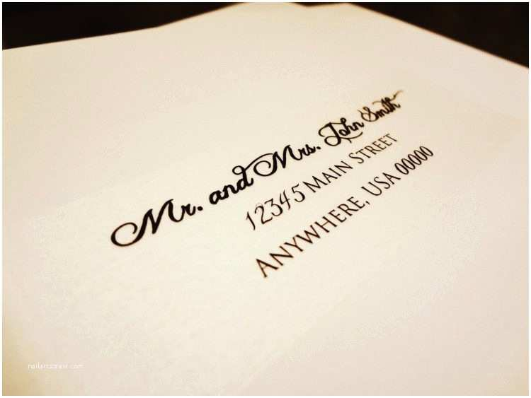 how to address wedding invitations without inner envelope tags
