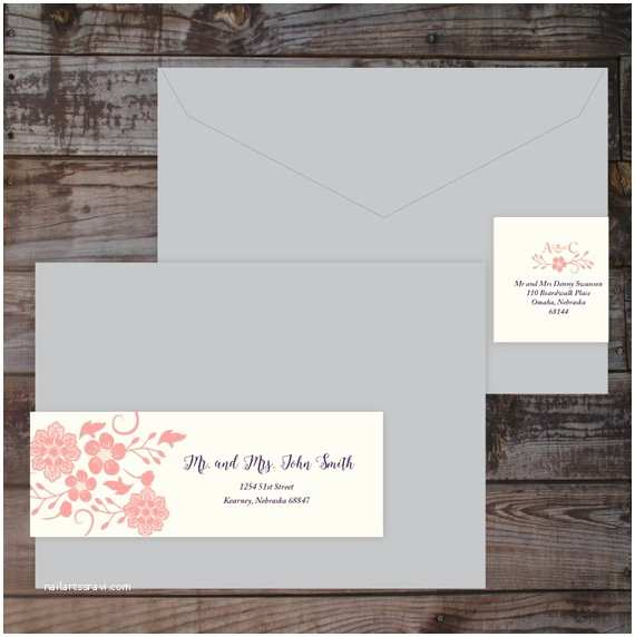 Guest Address Labels for Wedding Invitations Items Similar to Wrap Around Label Address Label Guest