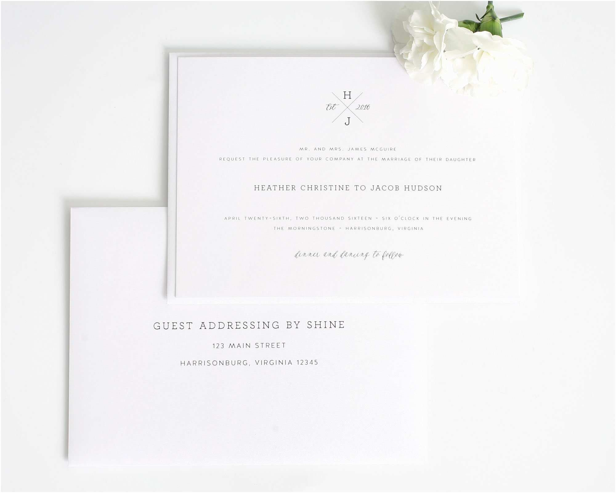 Guest Address Labels for Wedding Invitations Wedding Invitation Etiquette Labels Yaseen for