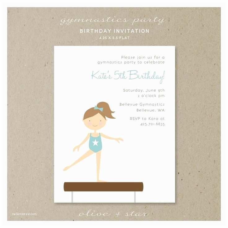 Gymnastics Birthday Invitations 17 Best Images About Gymnastics Party Ideas On Pinterest