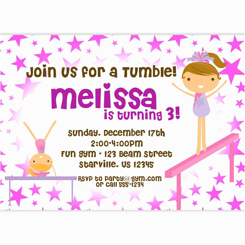 Gymnastics Birthday Invitations Gymnastic Birthday Invitations – Bagvania Free Printable