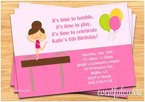Gymnastics Birthday Party Invitations Free Printable Gymnastic Birthday Invitations – Updated