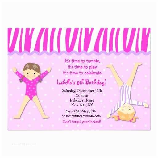 Gymnastics Party Invitations 319 Gymnastics Party Invitations Gymnastics Party