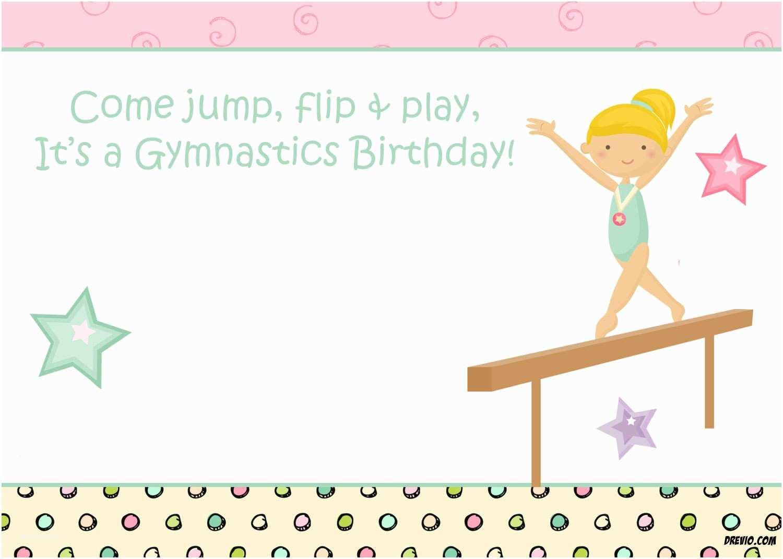 Gymnastics Party Invitations Free Printable Gymnastic Birthday Invitations – Updated