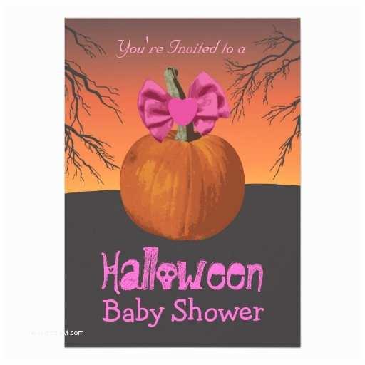 Halloween Baby Shower Invitations Girls Halloween Baby Shower Invitations