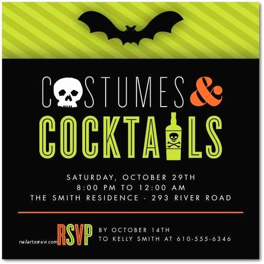 17 adult halloween party invitations