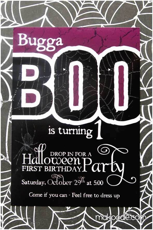 Halloween Birthday Invitations Halloween Birthday Party Invitation Makoodle