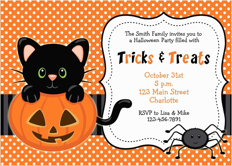 Halloween Birthday Invitations Halloween Party Invitation Kitty Cat Halloween Birthday