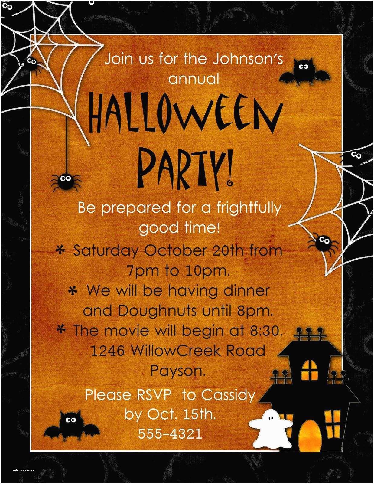 Halloween Birthday Invitations Halloween Party Invitation Wording