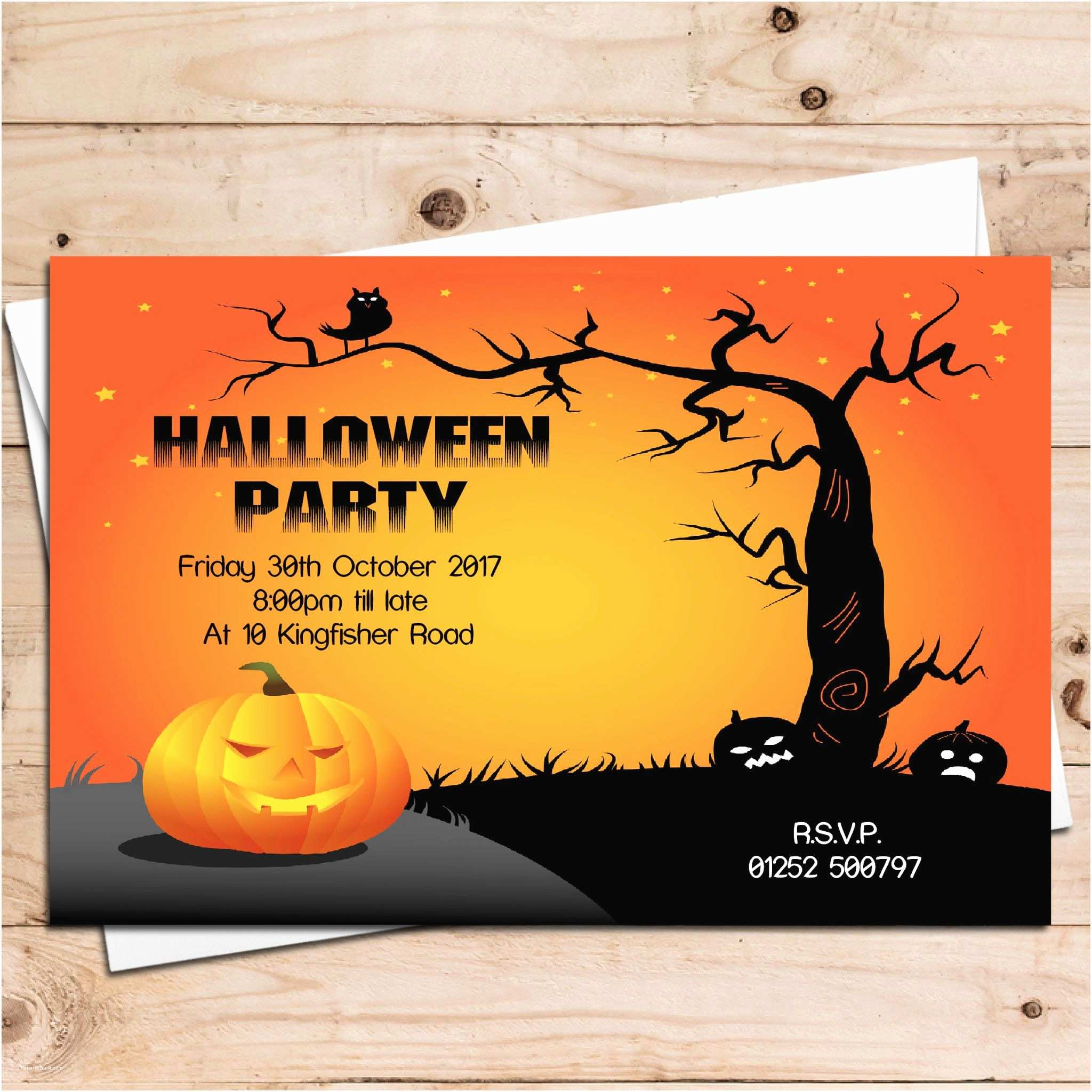 Halloween Birthday Party Invitations 10 Personalised Halloween Party Invitations N5