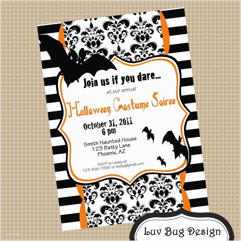 Halloween Birthday Party Invitations Costume Party Invitations
