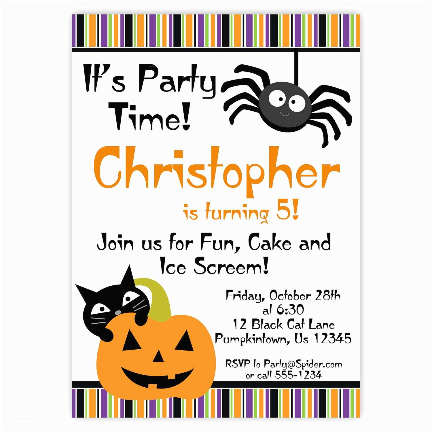Halloween Birthday Party Invitations Free Halloween Printables ...