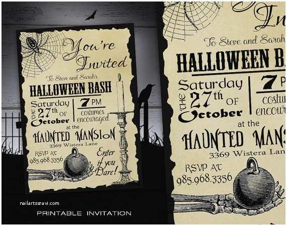 Halloween Birthday Party Invitations Halloween Party Invitation Adult Diy Halloween Invitations