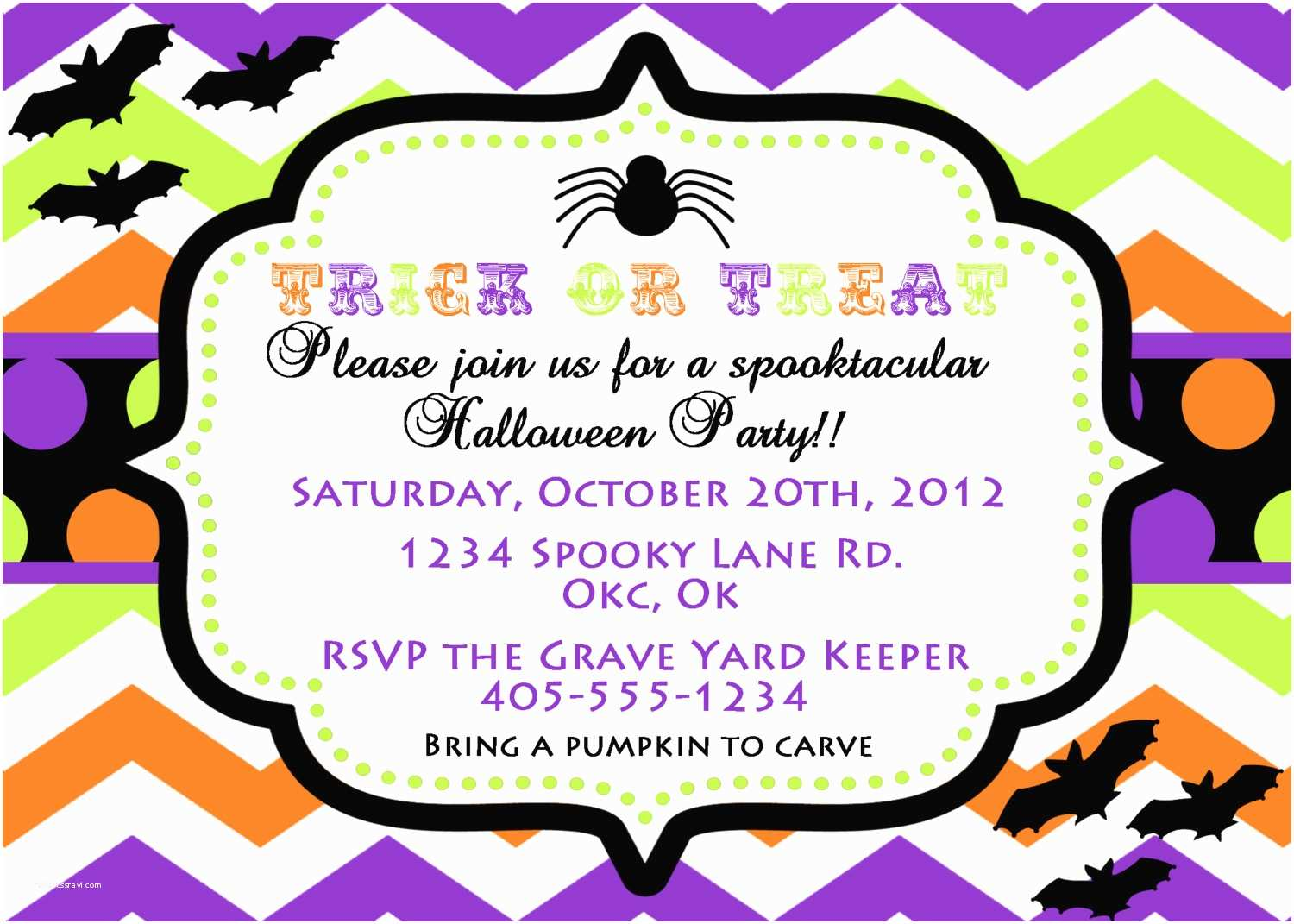 photo about Halloween Invitation Printable named Halloween Birthday Get together Invites Halloween Social gathering