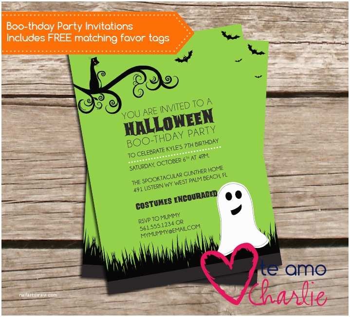 Halloween Birthday Party Invitations Halloween Party – Palm Beach Print Shop