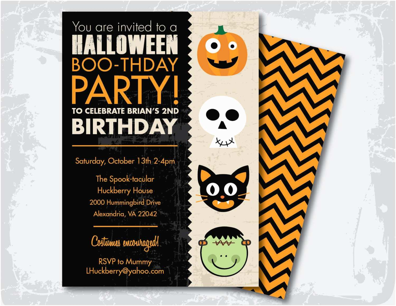 Halloween Costume Party Invitations Halloween Birthday Party Invitation