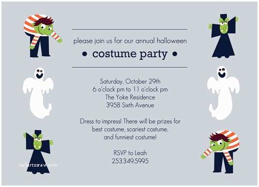 Halloween Costume Party Invitations Halloween Costumes Contest Invitation – Festival Collections