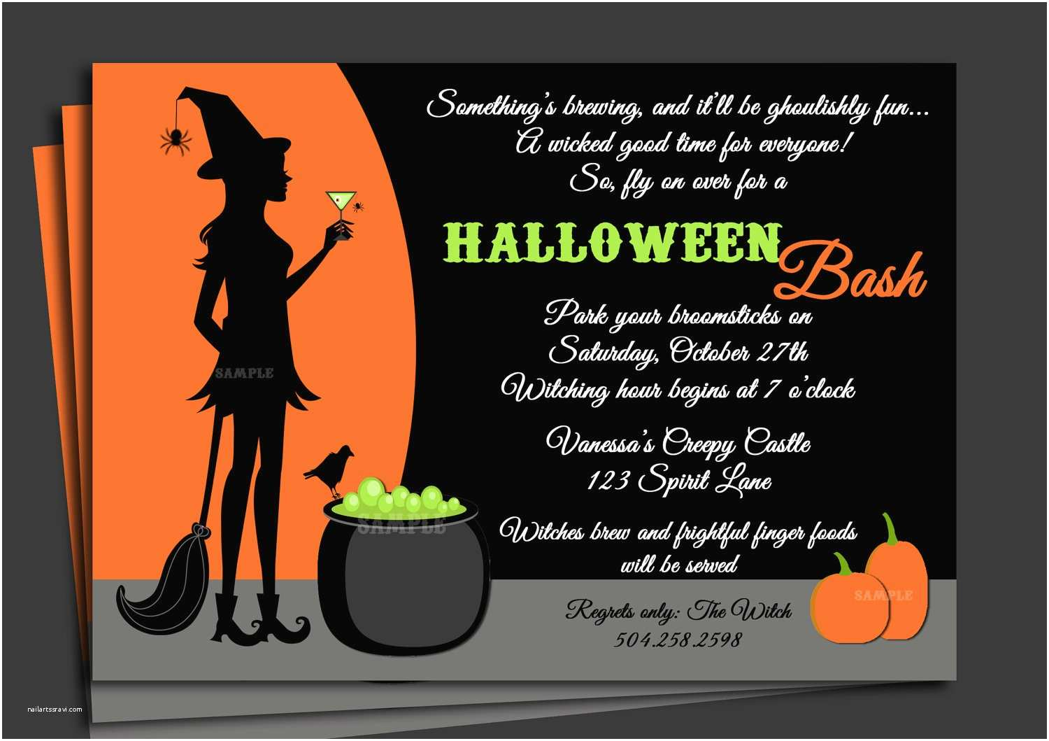 Halloween Costume Party Invitations Halloween Invitation Printable with Free Shipping Cocktails