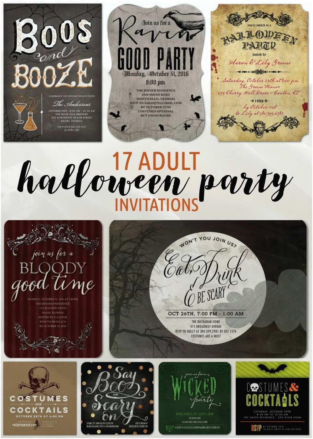 Halloween Party Invitation Ideas 17 Adult Halloween Party Invitations Newlywed Survival