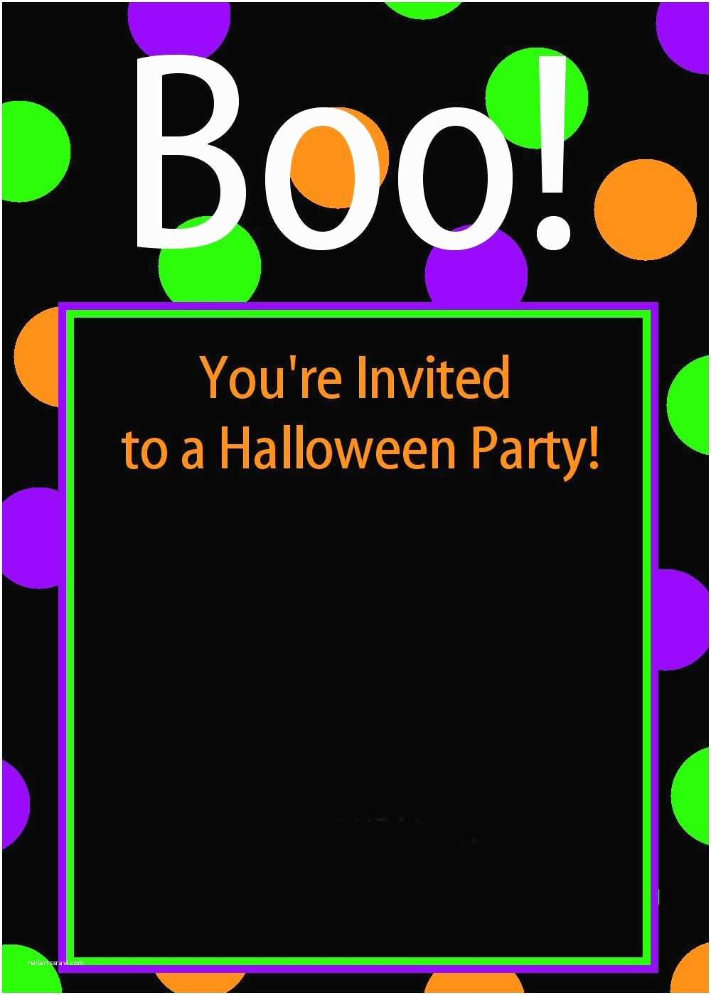 Halloween Party Invitation Ideas Free Printable Halloween Birthday Invitations Kids